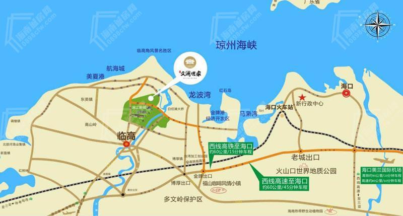 匯元文瀾世家交通圖