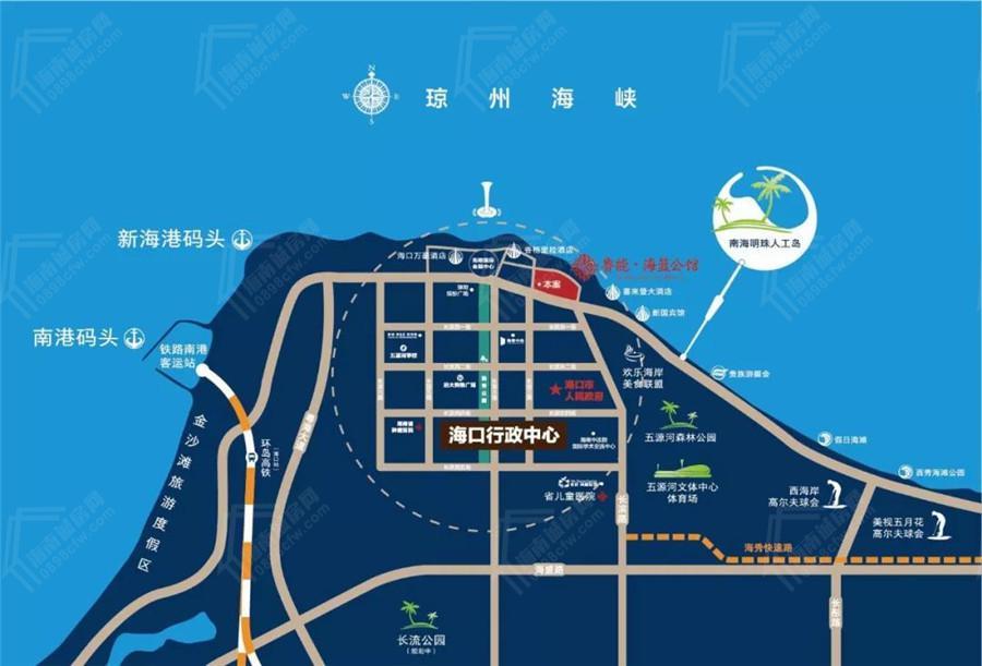 鲁能海蓝公馆交通图