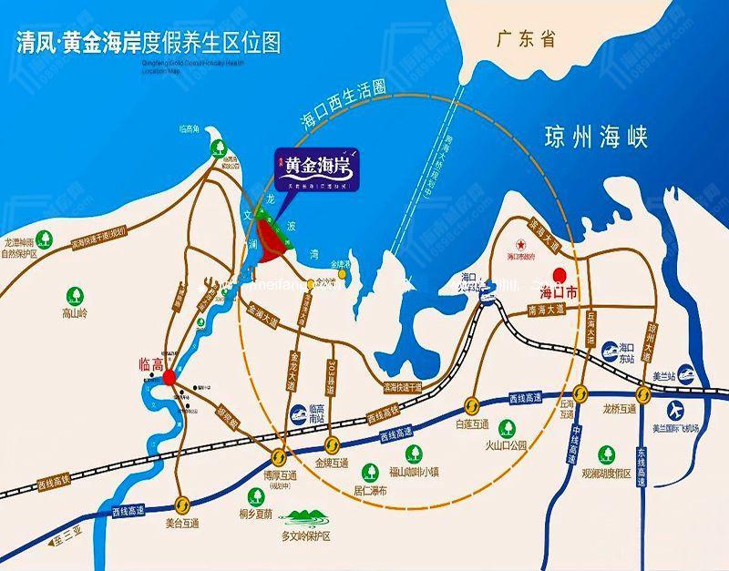 清凤黄金海岸交通图