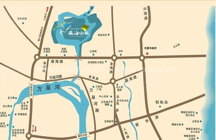 瑞海水城交通圖
