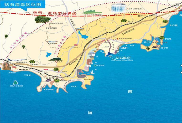 融创钻石海岸交通图