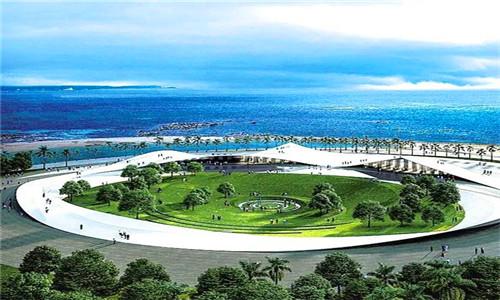"""海口湾6号计划明年6月竣工,外形如""""天空之山"""""""