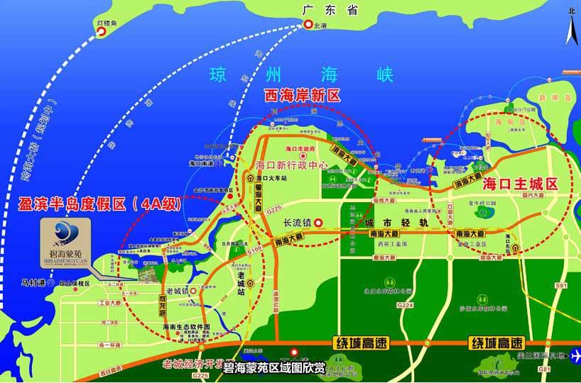 碧海蒙苑交通图