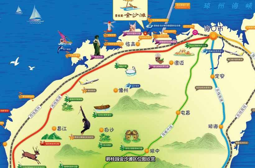 碧桂園金沙灘交通圖