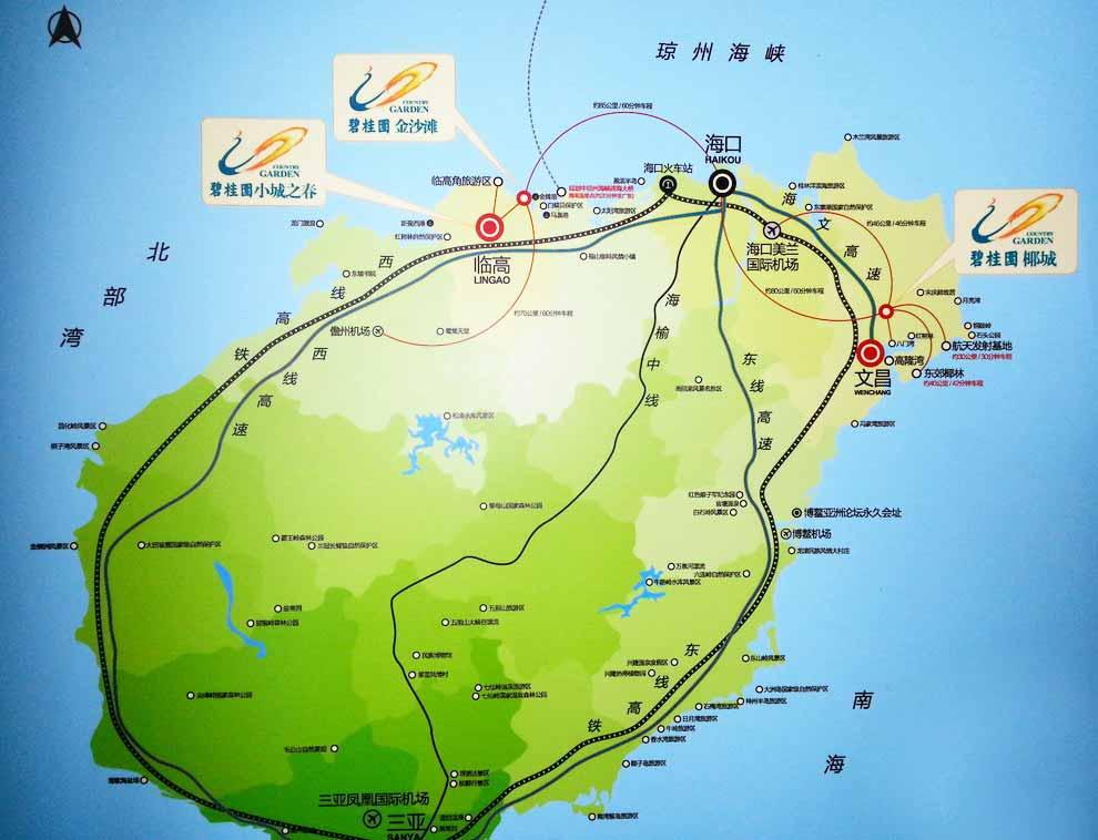 碧桂园金沙滩 交通图
