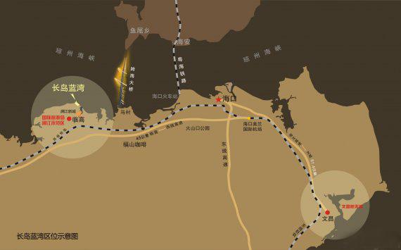 长岛蓝湾 交通图
