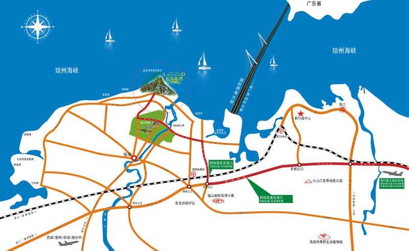 長島藍灣交通圖