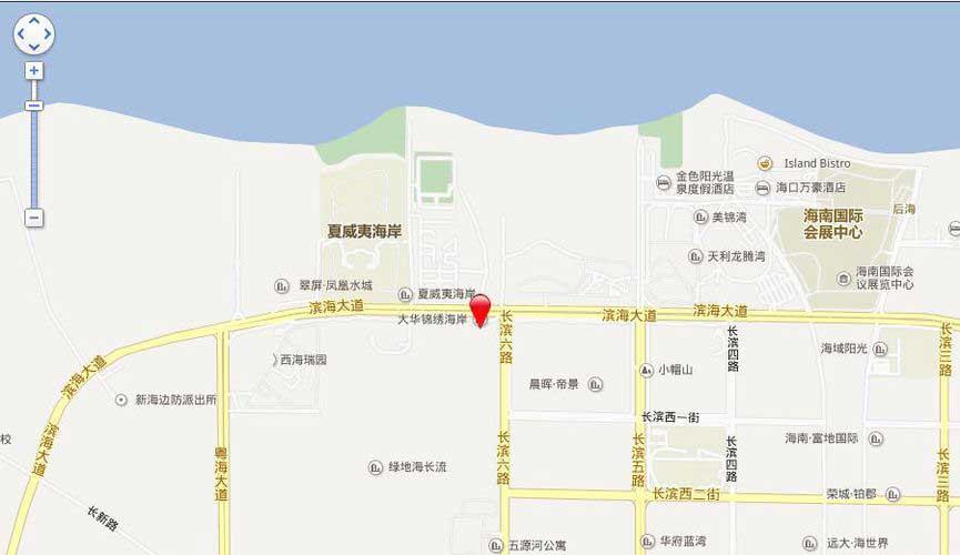 大華錦繡海岸交通圖