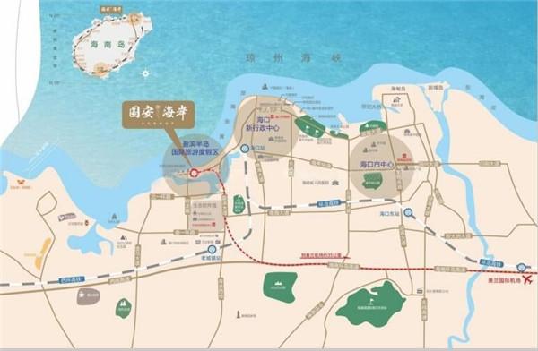 國安海岸交通圖
