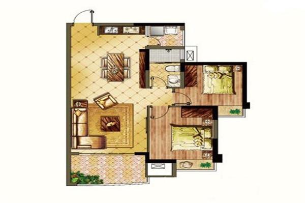 頤養公社陽光城2室2廳1衛1廚 建筑面積85.00㎡